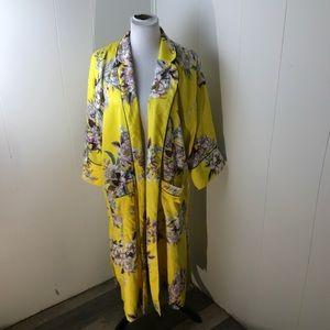 TopShop Yellow Huron Print Kimono